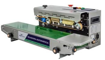 Seladora de embalagem automática com data em tinta